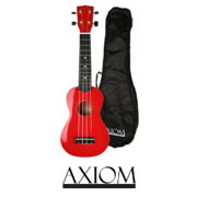 Spectrum Soprano Ukulele - Red - with carry Bag
