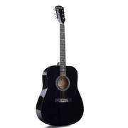 Folkmaster Full Size steel String Guitar - Black